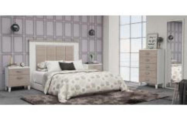 Oferta de Moderno dormitorio de matrimonio en blanco poro y japandi por 399,99€