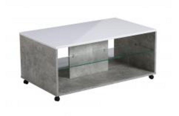Oferta de Mesa de centro en blanco y gris cemento por 79,99€