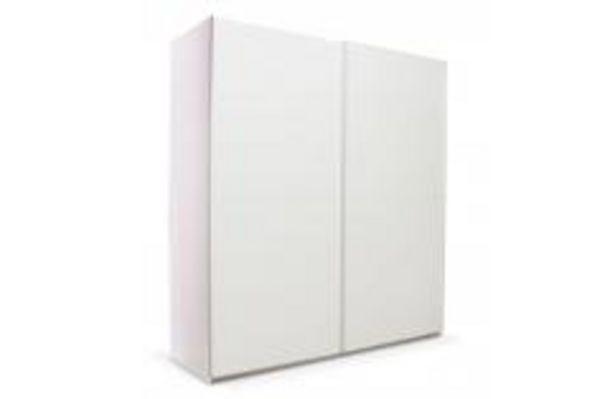 Oferta de Armario de 2 puertas correderas blanco mate 180cm por 229,99€