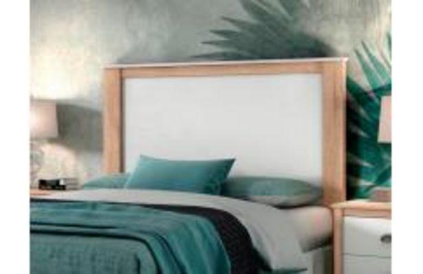 Oferta de Cabecero de matrimonio en color blanco y roble por 109,99€