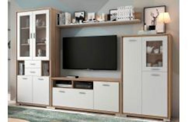 Oferta de Composición de salón en roble cambrian y blanco poro por 549,99€