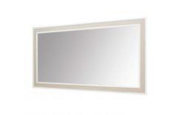 Oferta de Espejo rectangular en blanco y roble cambrian por 69,99€