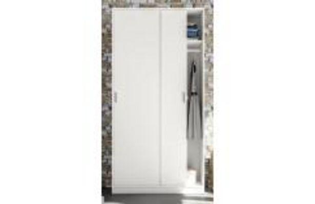 Oferta de Armario de puertas correderas en color blanco por 109,99€