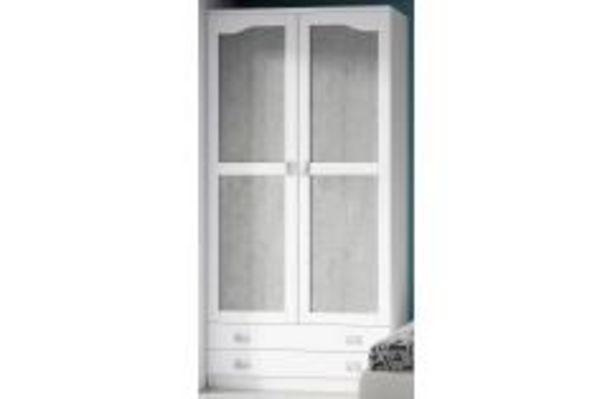Oferta de Dormitorio juvenil en blanco poro y pozzolana por 249,99€