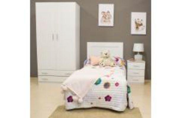 Oferta de Cabecero juvenil en color blanco liso por 69,99€