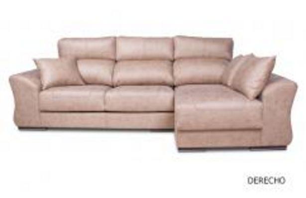 Oferta de Sofá 3 plazas con chaiselongue en magnolia beige por 799,99€