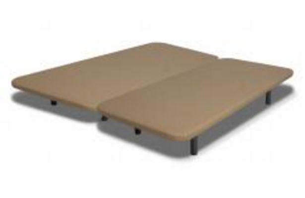 Oferta de Conjunto dos bases tapizadas en tejido 3D y pletinas de unión, medida total 200x200 cm por 152,99€