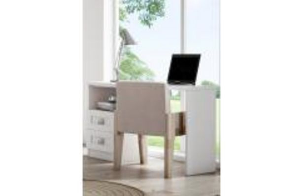 Oferta de Mesa estudio juvenil blanco rayado 120 cm por 139,99€