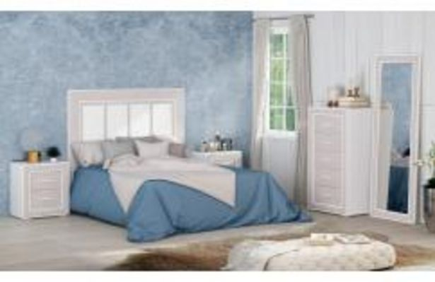 Oferta de Moderno dormitorio de matrimonio en blanco y gris por 599,99€