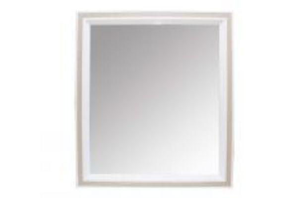 Oferta de Marco espejo en blanco y roble cambrian por 44,99€