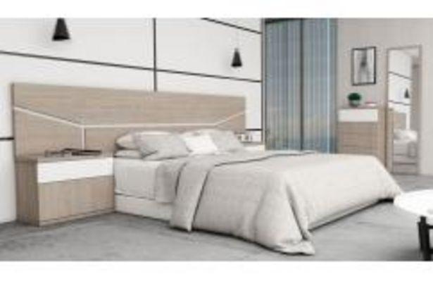 Oferta de Dormitorio de matrimonio en color roble japandi y blanco por 369,99€