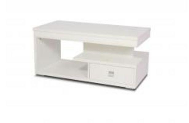 Oferta de Moderna mesa de centro elevable en blanco mate por 119,99€
