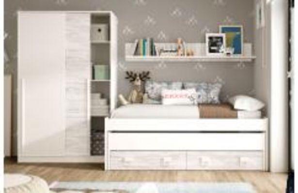Oferta de Dormitorio juvenil en blanco y vintage por 419,99€