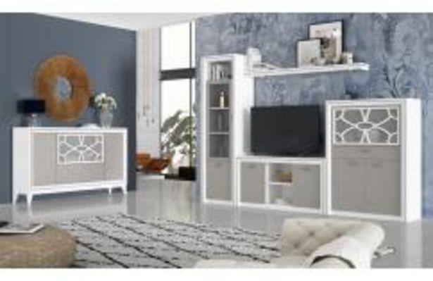 Oferta de Composición en blanco poro y gris nude con llamativas decoraciones por 629,99€