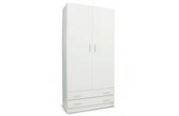 Oferta de Armario blanco con 2 puertas abatibles por 129,99€