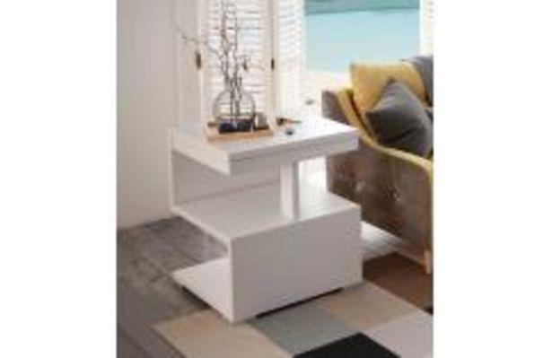 Oferta de Moderna mesa de rincón en color blanco liso por 64,99€
