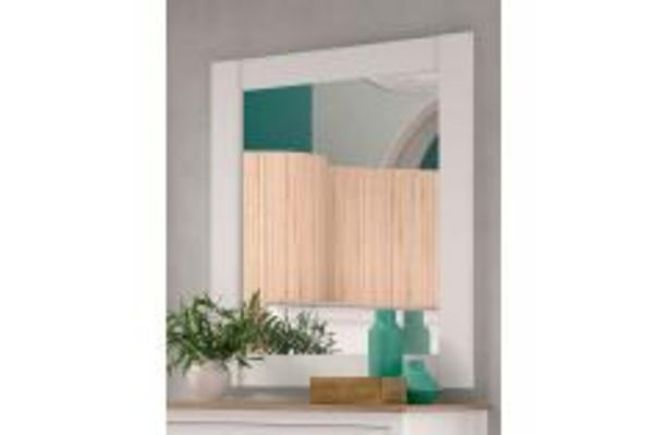 Oferta de Elegante espejo de estilo colonial en blanco por 59,99€