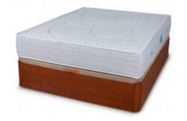 Oferta de Conjunto canapé cerezo y colchón muelle ensacado por 659,99€