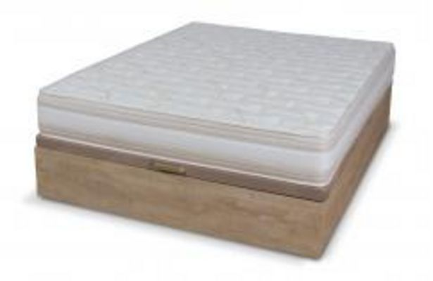 Oferta de Conjunto canapé Plaza roble + colchón New Rapi por 299,99€