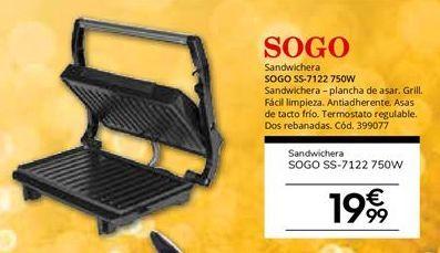 Oferta de Sandwichera Sogo por 19,99€