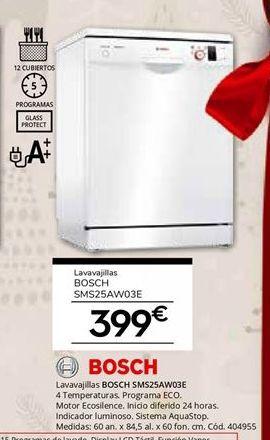 Oferta de Lavavajillas Bosch por 399€