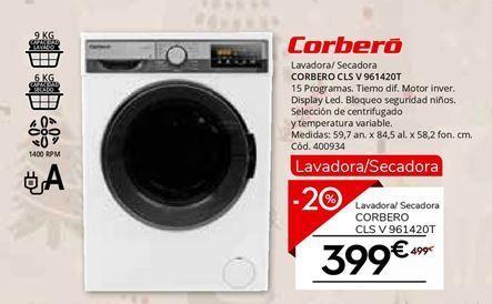 Oferta de Lavadora carga frontal Corberó por 399€