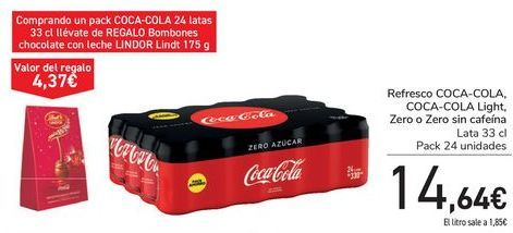 Oferta de Refresco COCA-COLA, COCA-COLA LIght,, Zero o Zero sin cafeína  por 14,64€