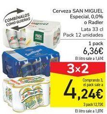 Oferta de Cerveza SAN MIGUEL Especial 0,0% o Radler  por 6,36€