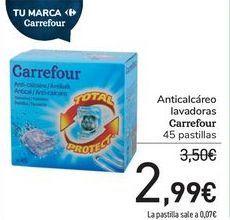 Oferta de Anticalcáreo lavadoras Carrefour  por 2,99€