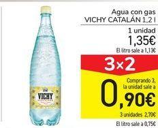 Oferta de Agua con gas Vichy Catalán por 1,35€