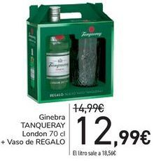 Oferta de Ginebra TANQUERAY Londo + Vaso de regalo  por 12,99€
