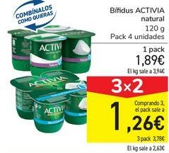 Oferta de Bífidus ACTIVIA natural por 1,89€