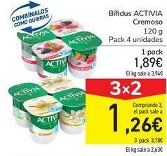 Oferta de Bífidus ACTIVIA Cremoso por 1,89€