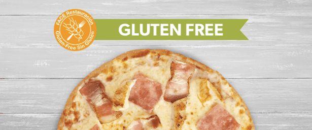 Oferta de Gluten Free - Personaliza tu pizza: York, bacon o pollo. por 10€