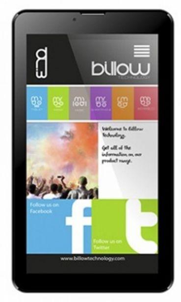 Oferta de Tablet billow 7 ips 1024x600 quad core 1.3ghz 8gb por 65,8€
