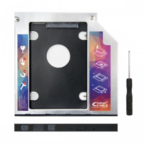 Oferta de Adap. disco duro 70mm para unidad optica 95mm por 6,9€