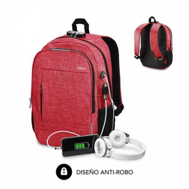Oferta de Subblim urban lock backpack 16 red por 16,5€