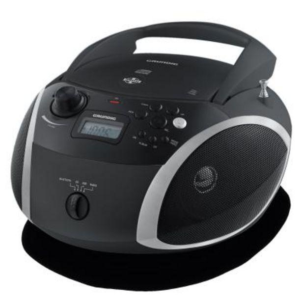 Oferta de Radio CD/DVD Grundig RCD 1500 BT Negro por 59,9€