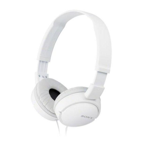 Oferta de Auriculares Sony MDRZX110W Blanco por 10,9€