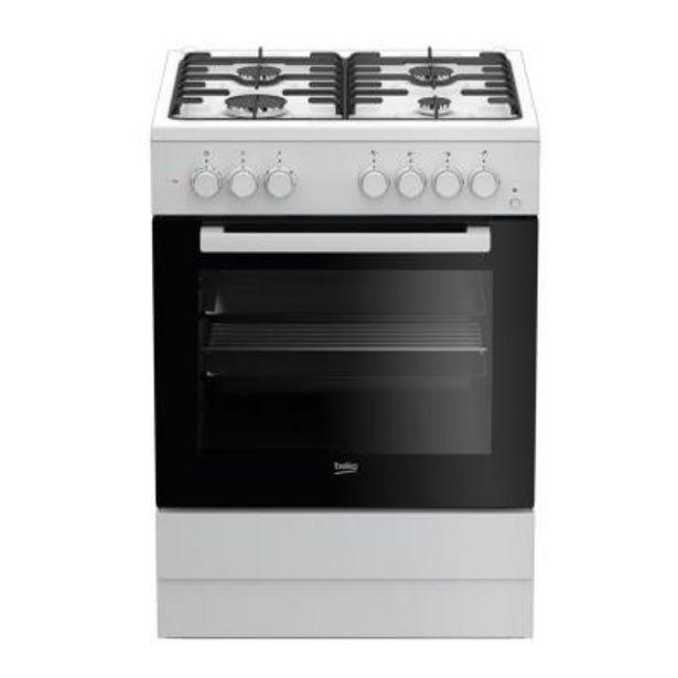 Oferta de Cocina gas Beko FSE62110DW 600 por 280€