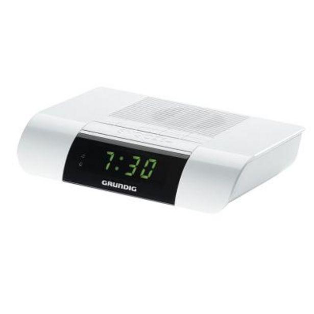 Oferta de Radio Despertador Grundig SONOCLOCK KSC35 Blanco por 14,9€
