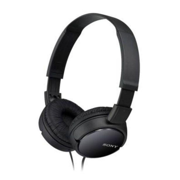 Oferta de Auriculares Sony MDRZX110B Negro por 10€