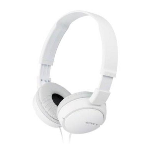 Oferta de Auriculares Sony MDRZX110W Blanco por 10€