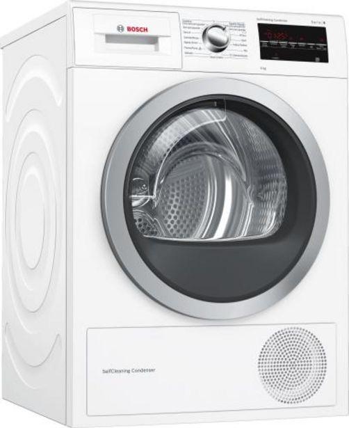 Oferta de Secadora bomba de calor Bosch WTG87239EE A++ por 765€