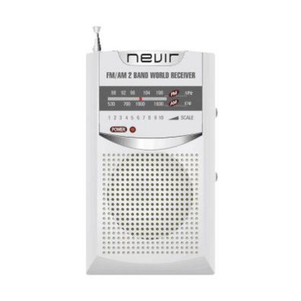 Oferta de Radio transistor Nevir NVR-136 Plata por 6,8€