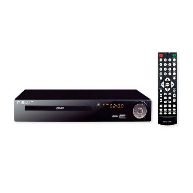 Oferta de Reproductor DVD Nevir NVR-2355 DVD-T2HDU DVD, DVD+R, DVD+RW, VCD, CD, CD-R, CD-RW por 58,9€