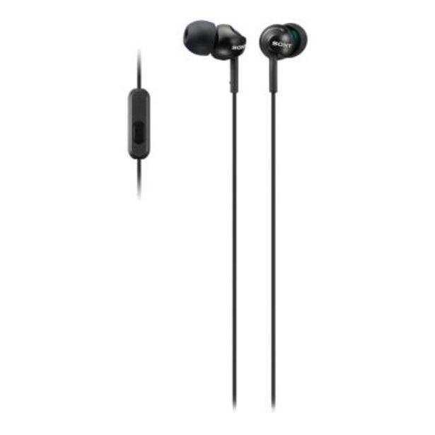 Oferta de Auriculares Sony MDR-EX110APB Negro por 17,9€