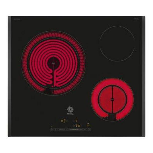 Oferta de Placa Vitrocerámica Balay 3EB765LQ 3 por 266€