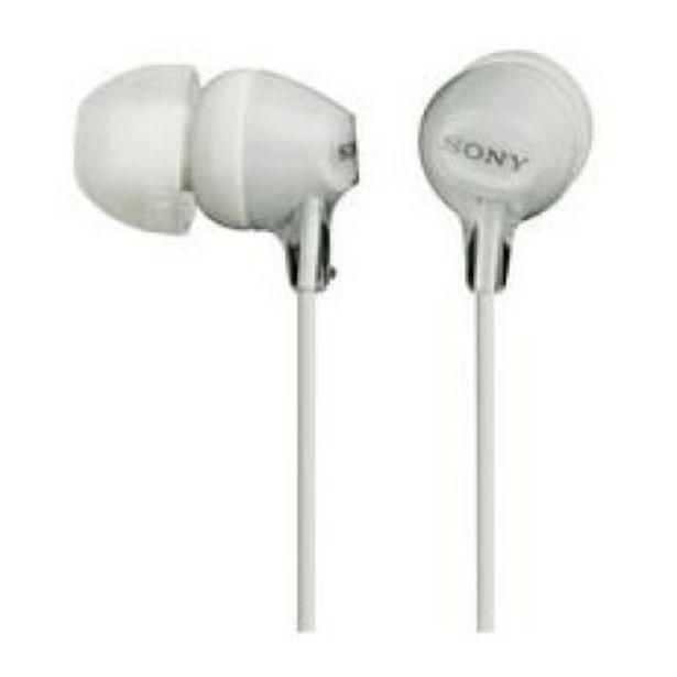 Oferta de Auriculares Sony MDREX15APW.CE7 Blanco por 7€