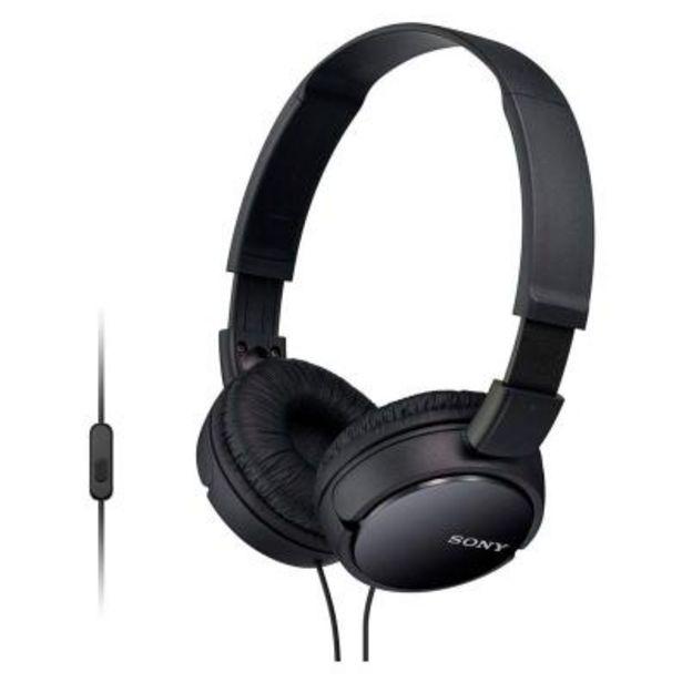 Oferta de Auriculares Sony MDR-ZX110APB Negro por 13,8€